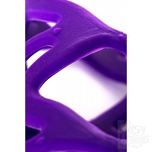 Фотография 4  Фиолетовая насадка-сетка на пенис - 7,5 см.