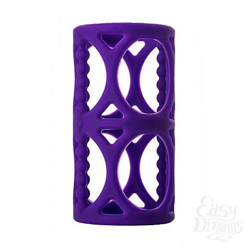 Фотография 3  Фиолетовая насадка-сетка на член