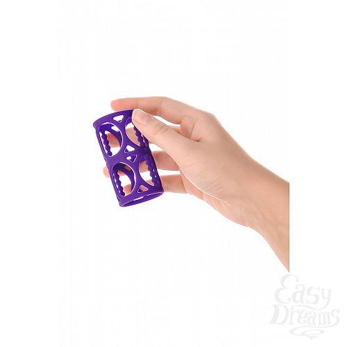Фотография 6  Фиолетовая насадка-сетка на член