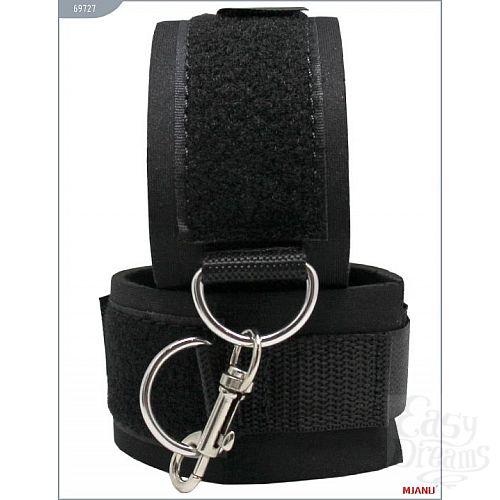 Фотография 4  Набор БДСМ-девайсов на липучках: наручники, наножники, ошейник с поводком