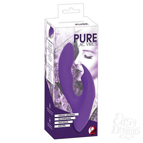 Фотография 5  Фиолетовый G-образный вибратор Pure Lilac Vibes - 17,8 см.