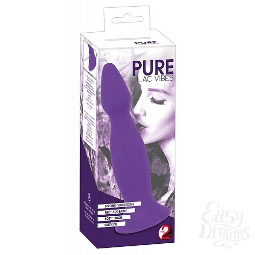 Фотография 4  Фиолетовая анальная вибропробка Pure Lilac Vibes - 18 см.