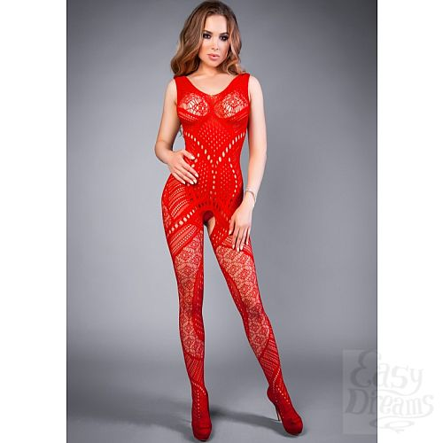 Фотография 1:  Le Frivole Costumes  Боди-комбинезон красный геометрия Impulse 04516SL