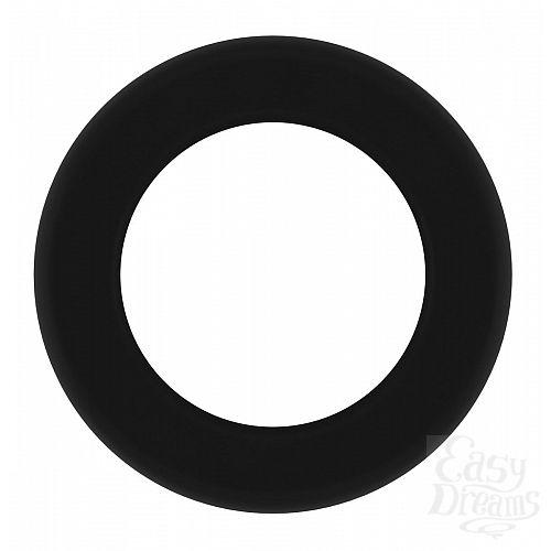 Фотография 2  Чёрное эрекционное кольцо Cockring No.39