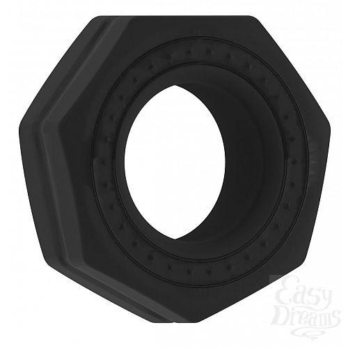 Фотография 1:  Чёрное эрекционное кольцо No.43 Cockring