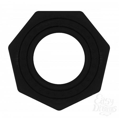 Фотография 2  Чёрное эрекционное кольцо No.43 Cockring