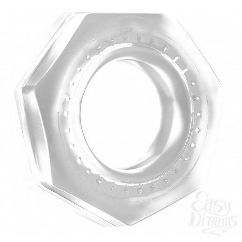 Фотография 1:  Прозрачное эрекционное кольцо No.43 Cockring