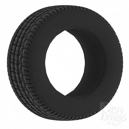 Фотография 1:  Чёрное эрекционное кольцо No.44 Cockring