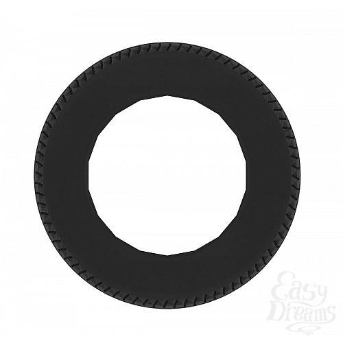 Фотография 2  Чёрное эрекционное кольцо No.44 Cockring