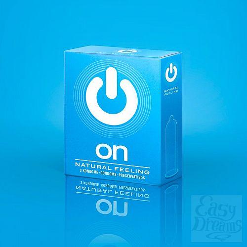 Фотография 1:  Классические презервативы ON) Natural feeling - 3 шт.