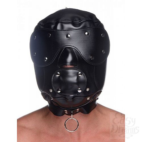 Фотография 5  Шлем-трансформер Muzzled Universal BDSM Hood with Removable Muzzle