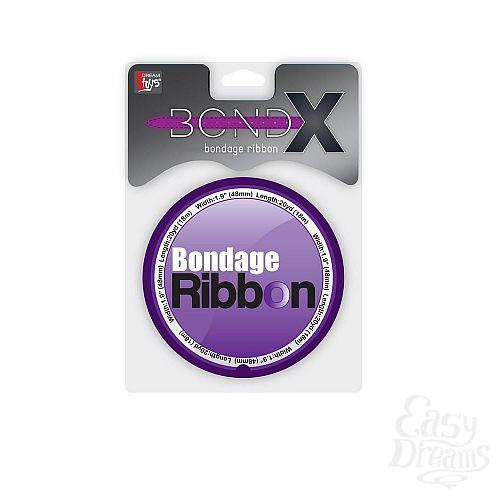 Фотография 2  Фиолетовая лента для связывания BONDX BONDAGE RIBBON - 18 м.