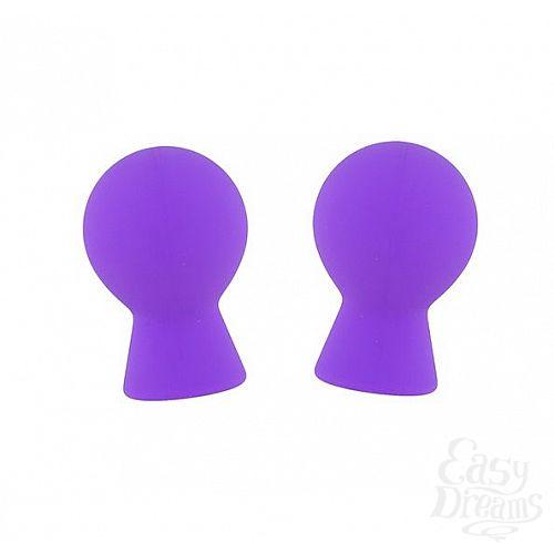 Фотография 1:  Фиолетовые присоски для груди LIT-UP NIPPLE SUCKERS SMALL PURPLE