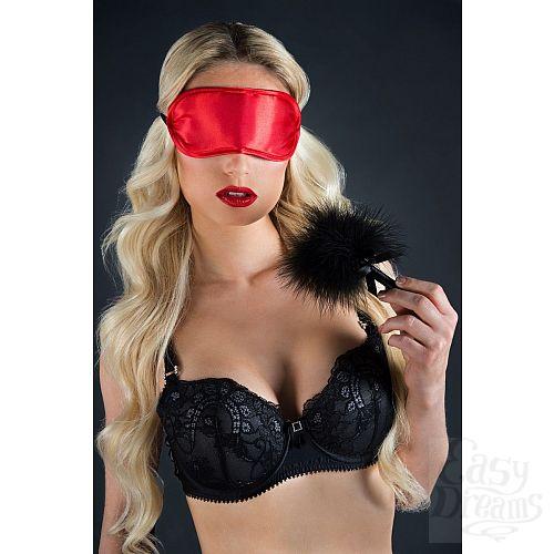 Фотография 2  Набор для игр Velvet Soft Eye Mask and Tickler: маска на глаза и пуховая кисточка