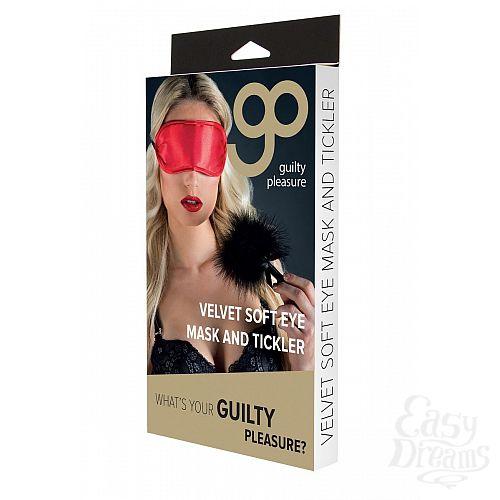 Фотография 3  Набор для игр Velvet Soft Eye Mask and Tickler: маска на глаза и пуховая кисточка