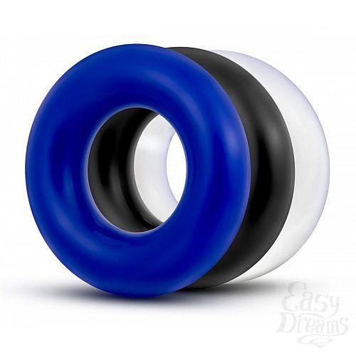 Фотография 1:  Набор из 3 разноцветных колец Stay Hard Donut Rings