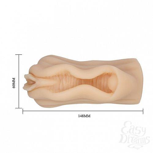 Фотография 5  Мастурбатор-вагина без вибрации с необычным дизайном