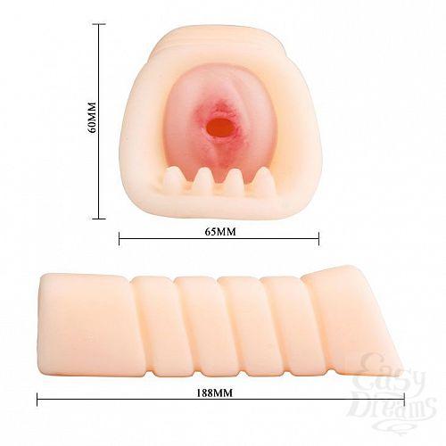 Фотография 3  Мастурбатор-вагина с вибрацией и шипиками на входе
