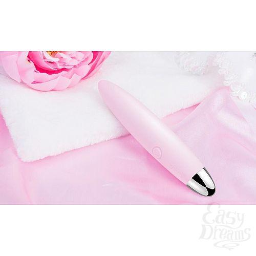 Фотография 3  Розовый компактный вибростимулятор клитора Daisy - 12,5 см.