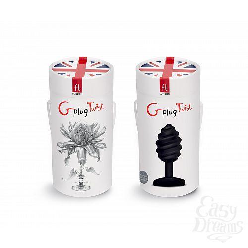 Фотография 3 FT London (Fun Toys) NEW! Витая анальная пробка Gplug Twist - FT London - 10,5 см