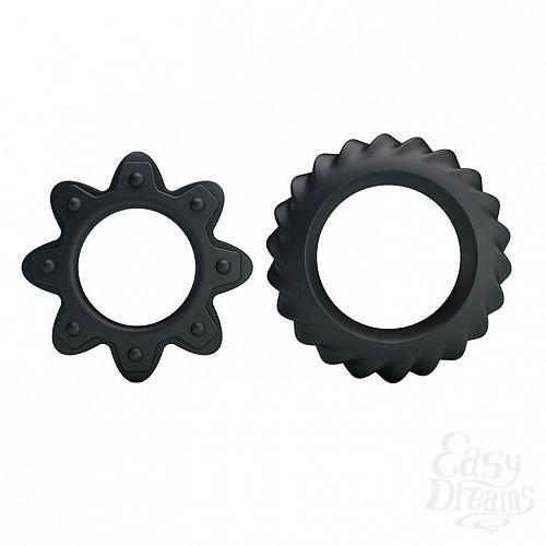 Фотография 1:  Набор ребристых эрекционных колец Ring Flowering