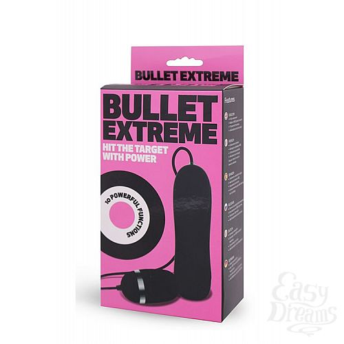Фотография 2  Чёрное виброяйцо с пультом BULLET EXTREME