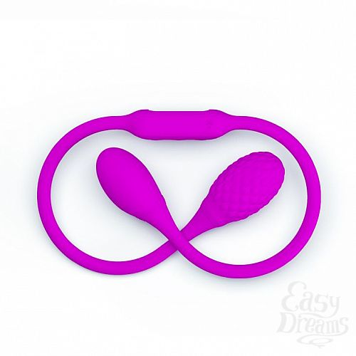 Фотография 3  Гибкий вибростимулятор для пар с круглыми концами Dream Lovers Whip