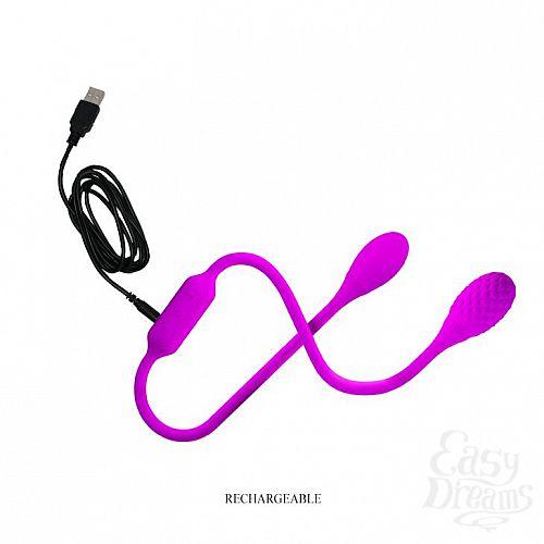 Фотография 7  Гибкий вибростимулятор для пар с круглыми концами Dream Lovers Whip