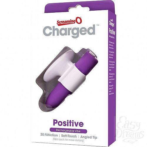 Фотография 3  Фиолетовый мини-вибратор CHARGED POSITIVE VIBE