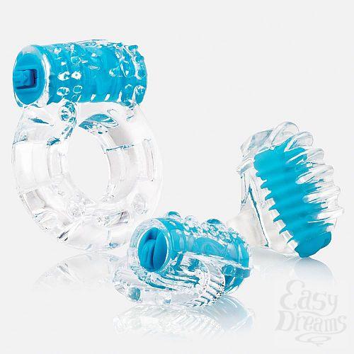 Фотография 1:  Голубой набор из 3 вибростимуляторов VIBROMAN