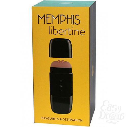 Фотография 8  Чёрный мастурбатор-вагина Memphis с блютус-колонкой