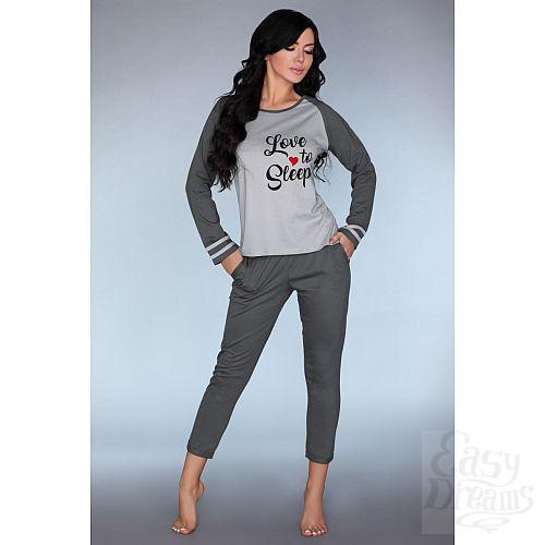 Фотография 1:  Мягкая пижамка с принтом Linza