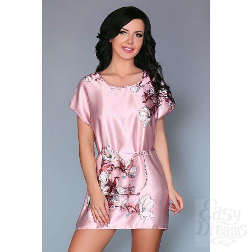 Фотография 1:  Нежно-розовая сорочка Amalia с цветочным рисунком