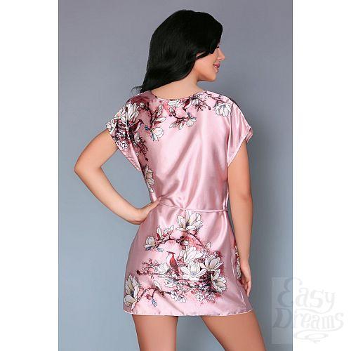 Фотография 2  Нежно-розовая сорочка Amalia с цветочным рисунком
