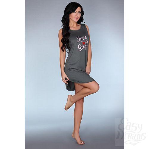 Фотография 2  Серая ночная сорочка Dehena с принтом