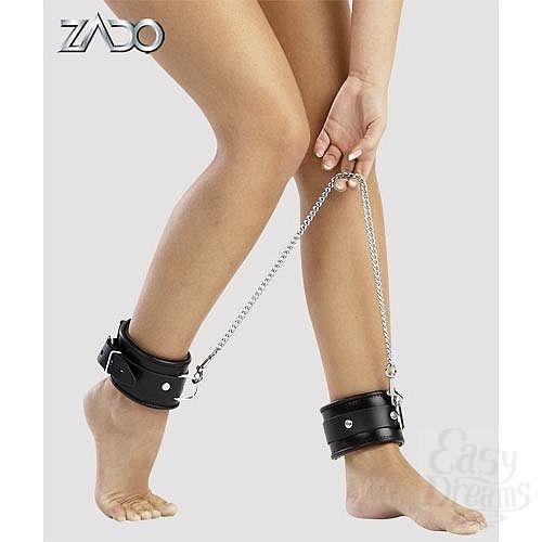 Фотография 1:  Кожанные кандалы на ноги ZADO , Черный