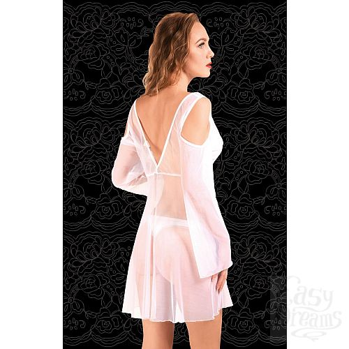 Фотография 2  Оригинальный халатик из сетки с открытыми плечами