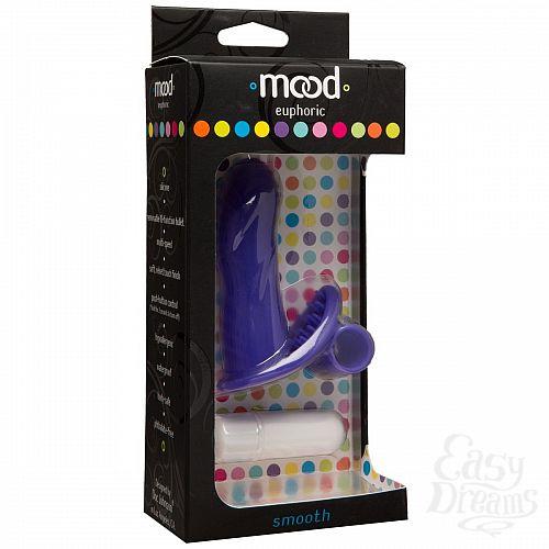 Фотография 3  Фиолетовая вибронасадка на палец Mood Euphoric Smooth