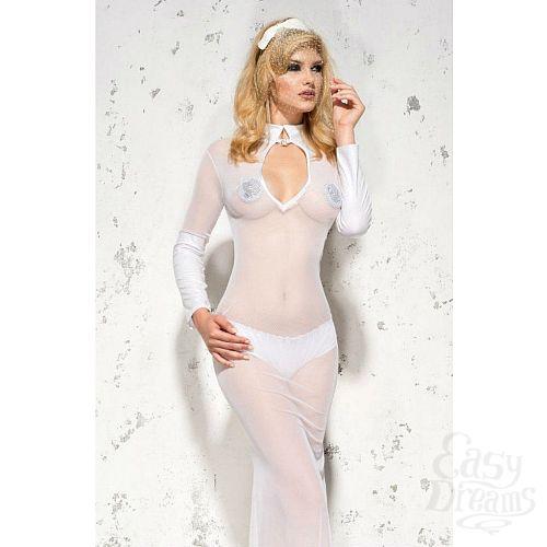 Фотография 3  Полупрозрачное длинное платье Sarah