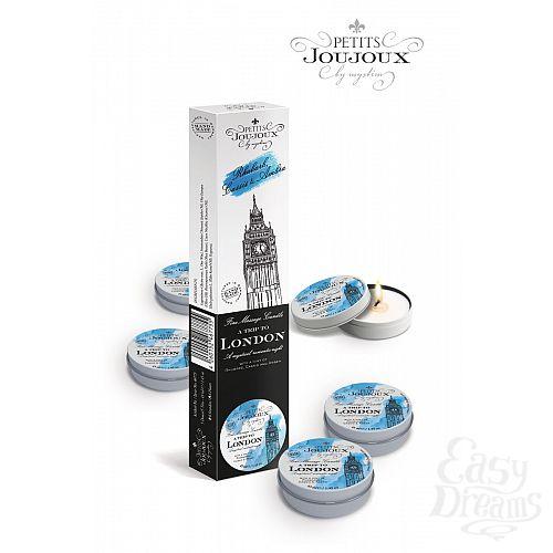 Фотография 1:  Набор из 5 свечей Petits Joujoux London с ароматом ревеня, амбры и чёрной смородины