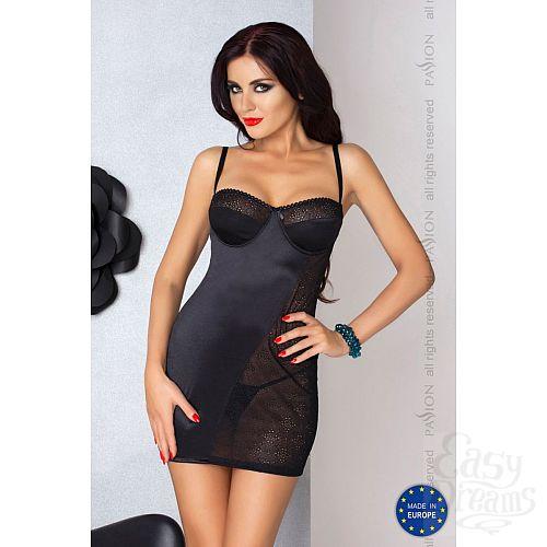 Фотография 1:  Сорочка Carolyn с полупрозрачной вставкой из кружева и шнуровкой на спинке