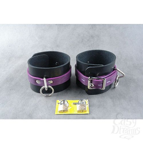Фотография 2  Чёрно-фиолетовые не подшитые наножники