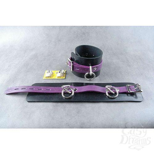 Фотография 3  Чёрно-фиолетовые не подшитые наножники