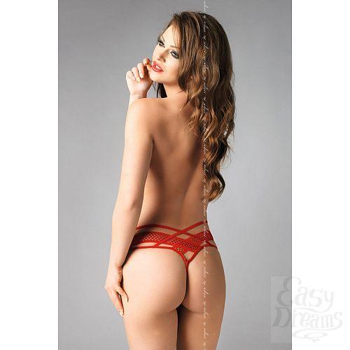 Фотография 5  Трусики-стринги Amber с поясом из сетки