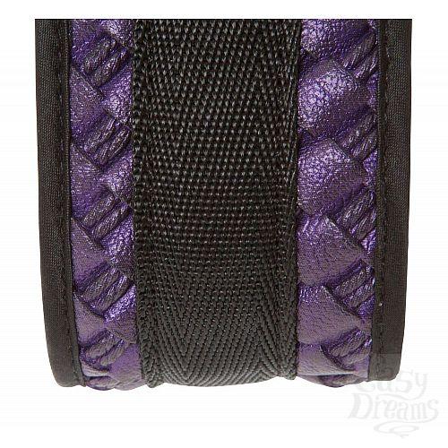 Фотография 4  Чёрно-фиолетовый набор для бондажа Bondage Set