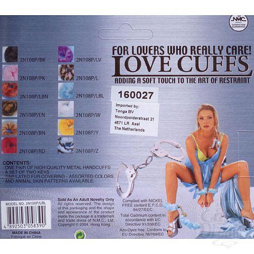 Фотография 2  Голубые меховые наручник (Tonga 160027)