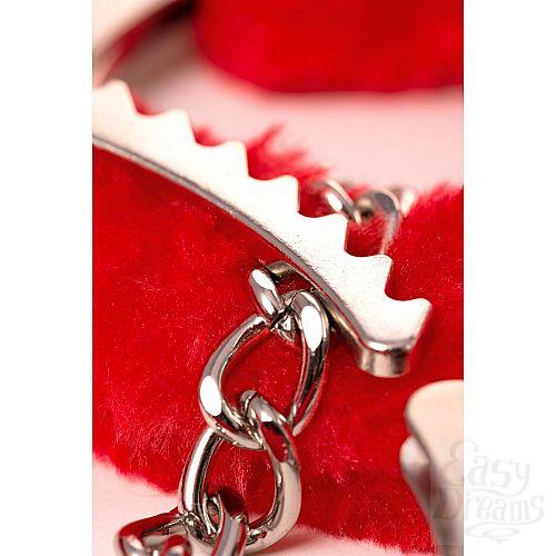 Фотография 6  Оковы на ноги Romfun с красной меховой опушкой