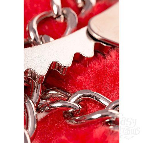 Фотография 8  Оковы на ноги Romfun с красной меховой опушкой