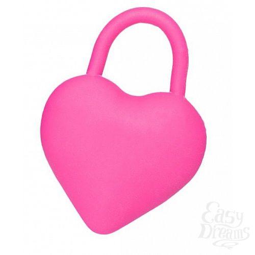 Фотография 1:  Вибромассажер для пар в форме сердца с петелькой