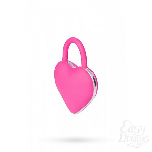Фотография 2  Вибромассажер для пар в форме сердца с петелькой
